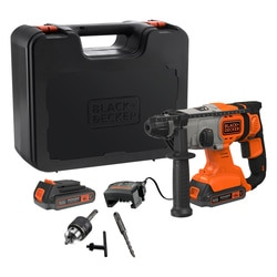 Black and Decker - Martillo SDSPlus 18V con 2 bateras 25Ah y maletn - BCD900E2K