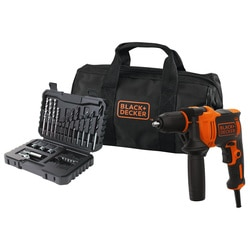 Black and Decker - Taladro Percutor 710W con set 32 accesorios y bolsa de transporte - BEH710SA32