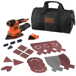 Black and Decker - KIT MultiLijadora 200W 4 en 1 con 21 accesorios y bolsa de transporte - BEW200LSA