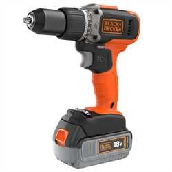 Black and Decker - Taladro Percutor 18V 2 Velocidades con 1 batera 40h Litio y 1 batera 20Ah Litio - BCD003MEM2K