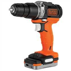 Black and Decker - Taladro Percutor 12V con batera 12V USB - BDCHD12S1