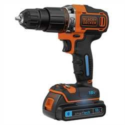 Black and Decker - Taladro Percutor 18V 15Ah con batera Smart Tech  cargador 400mA y maletn - BDCHD18KST