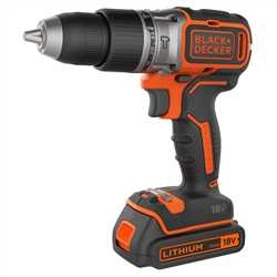 Black and Decker - Taladro Percutor Brushless 18V 15Ah con 2 Bateras y maletn - BL188KB