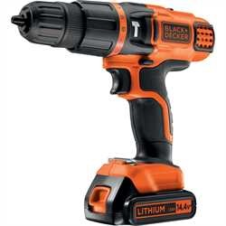 Black and Decker - Taladro percutor 144V litio con 2 velocidades - EGBL148KB