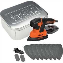 Black and Decker - Lijadora Mouse 120W con 10 accesorios en lata - KA2000AT