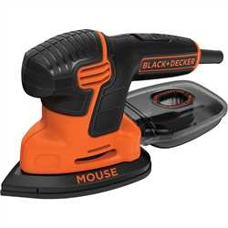 Black And Decker - Lijadora Mouse 120W con bolsa y 6 accesorios - KA2000