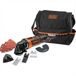Black and Decker - Multiherramienta oscilante 300W  12 accesorios y bolsa - MT300SA