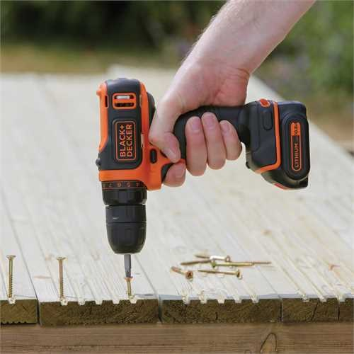 Black and Decker - Taladro atornillador ultra compacto 108V Litio - BDCDD12