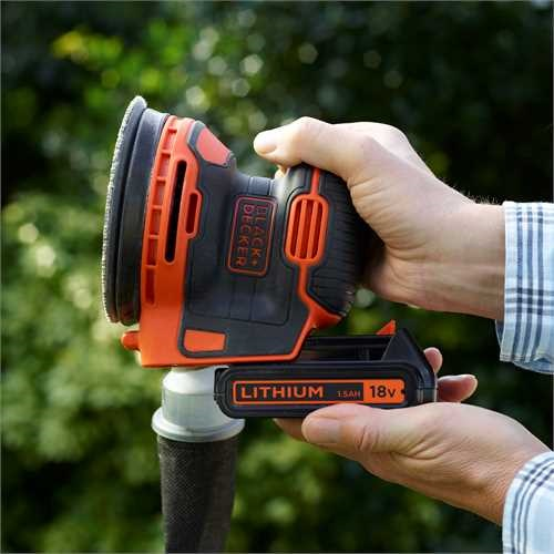 Black and Decker - Lijadora Rotorbital 18V 15Ah Litio - BDCROS18