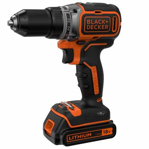 Black and Decker - Taladro Atornillador Brushless 18V 15Ah con maletn - BL186K
