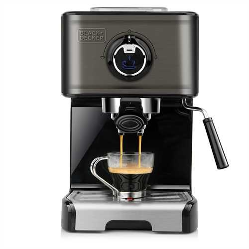 Black and Decker - Cafetera Espresso 1200W - BXCO1200E